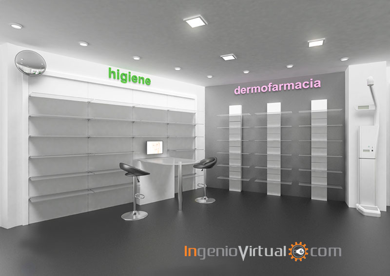 Infograf as 3d para proyecto de farmacia en local comercial - Proyectos de farmacia ...